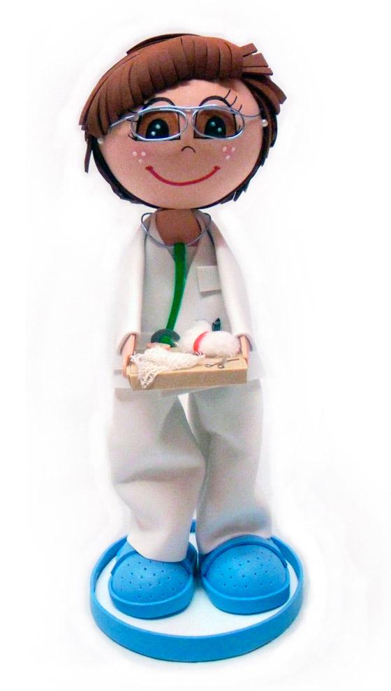Muñeca fofucha personalizada enfermera