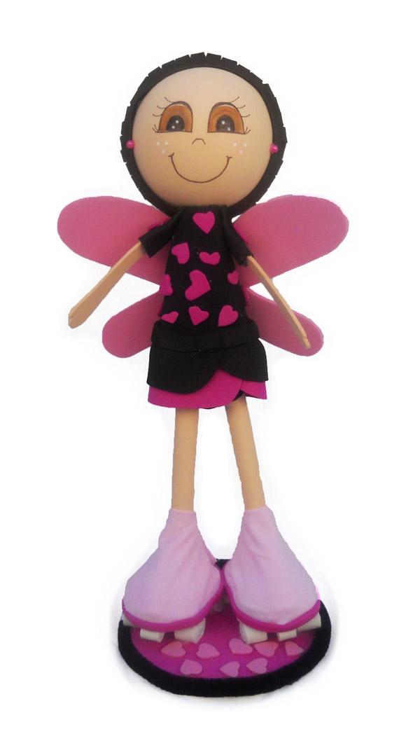 Muñeca Fofucha personalizada patinadora